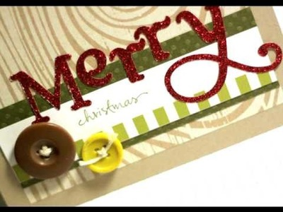 Merry Christmas (woodgrain) - Make a Card Monday #47