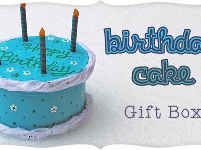 Mini Birthday Cake Gift Box Tutorial