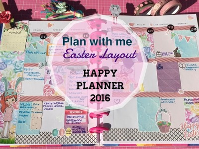 Plan With Me ♥ NEW Happy Planner March 2016 Week 3 Easter Layout| I'm A Cool Mom