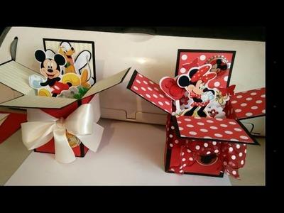 Pop Up Box Cards Disney Mickey Minnie Tutorial