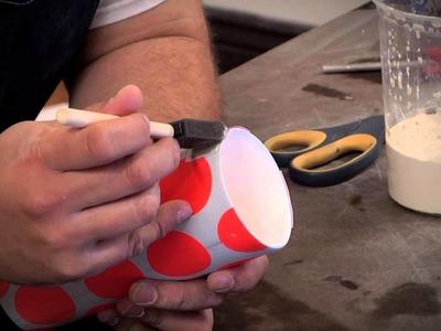 Pottery Video: Using Sticker Resist to Make Cool Patterns | ANDREW GILLIATT