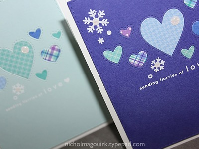 Simon Says Stamp January Card Kit   Flurries of Love Cards