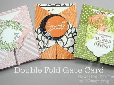 Stampin' Up! Happy Haunting Double Fold Gate Card by Dawn O
