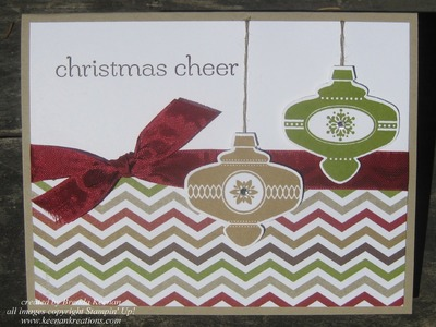 Super easy Stampin' Up! Christmas card