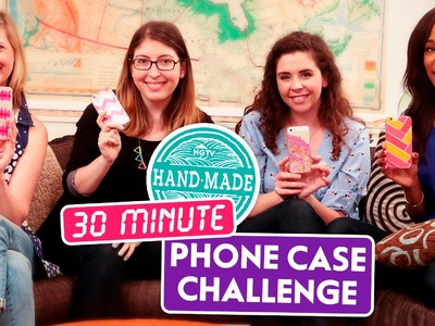 The 30 Minute Phone Case Challenge! - HGTV Handmade