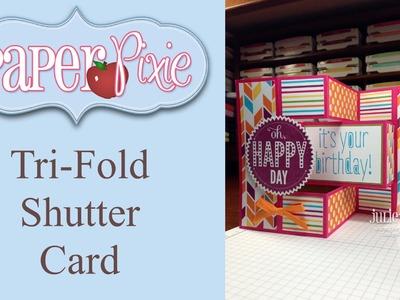 Tri-Fold Shutter Card