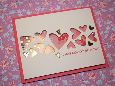 Valentine's Day card 6 - simple CAS shaker card