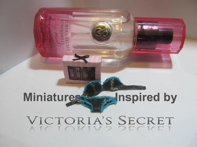 Victoria's Secret Inspired Polymer Clay and Fabric Dollhouse Miniatures
