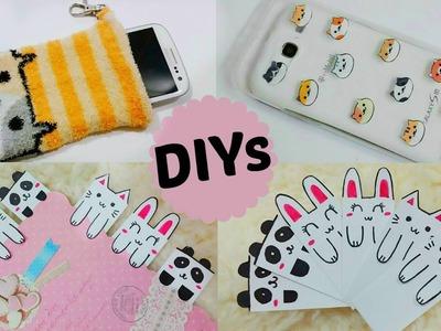 3 Creative & Cute DIYs: DIY Animal Face Bookmarks+DIY Neko Atsume Phone Case & Phone Pouch