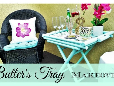 $8 Butler's Tray Table Makeover