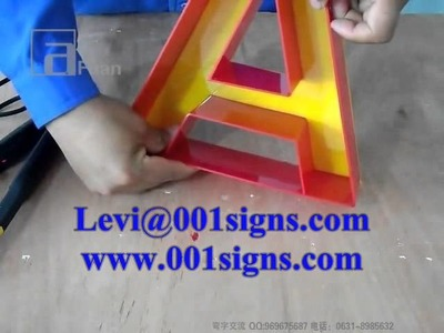 ACRYLIC BENDER-LED CHANNEL LETTER PRODUCTION-SIGN LETTER MAKER'S DREAM!