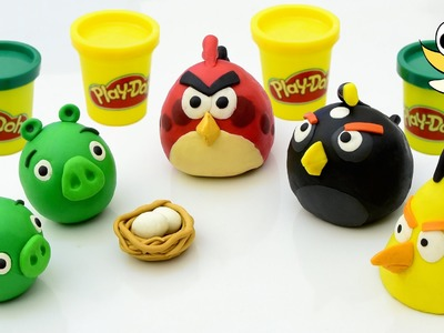 Angry Birds Fight with bad Piggies Play doh STOP MOTION playdo claymation video animation [HD]