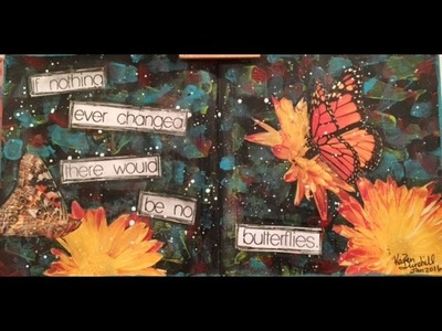 "Art Journal Tutorial: Back to Basics Series Page 2 :"" If Nothing Changed"""