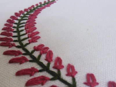 Beautiful Embroidery Pattern for Collars, Baby pillow cases etc.  | HandiWorks #35