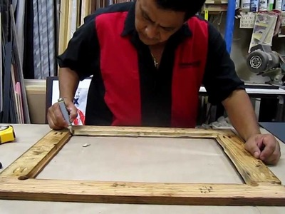 Beto shows how to cut a mirror and frame it!