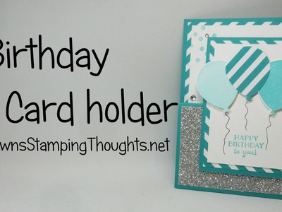 Birthday Gift Card Holder with Party Pants  stamp set from Stampin'Up!