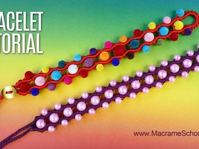 Bubbly Wave Bracelet Tutorial | Macrame School