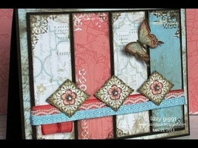 Card Tutorial #1 Vintage Butterflies (CLA400b)