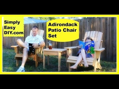 Cedar Adirondack Chair and Patio Set part 1