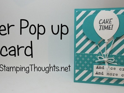 Corner Pop Up Card  using Stampin'Up! Products