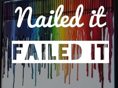 Crayon Melting Canvas Art - NAILED IT FAILED IT Ep. 1