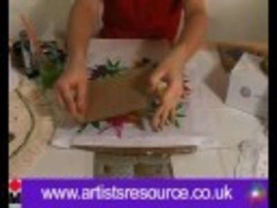 Decorate your Cushion Covers - Fabric Painting and Stamping Project - Art and Craft