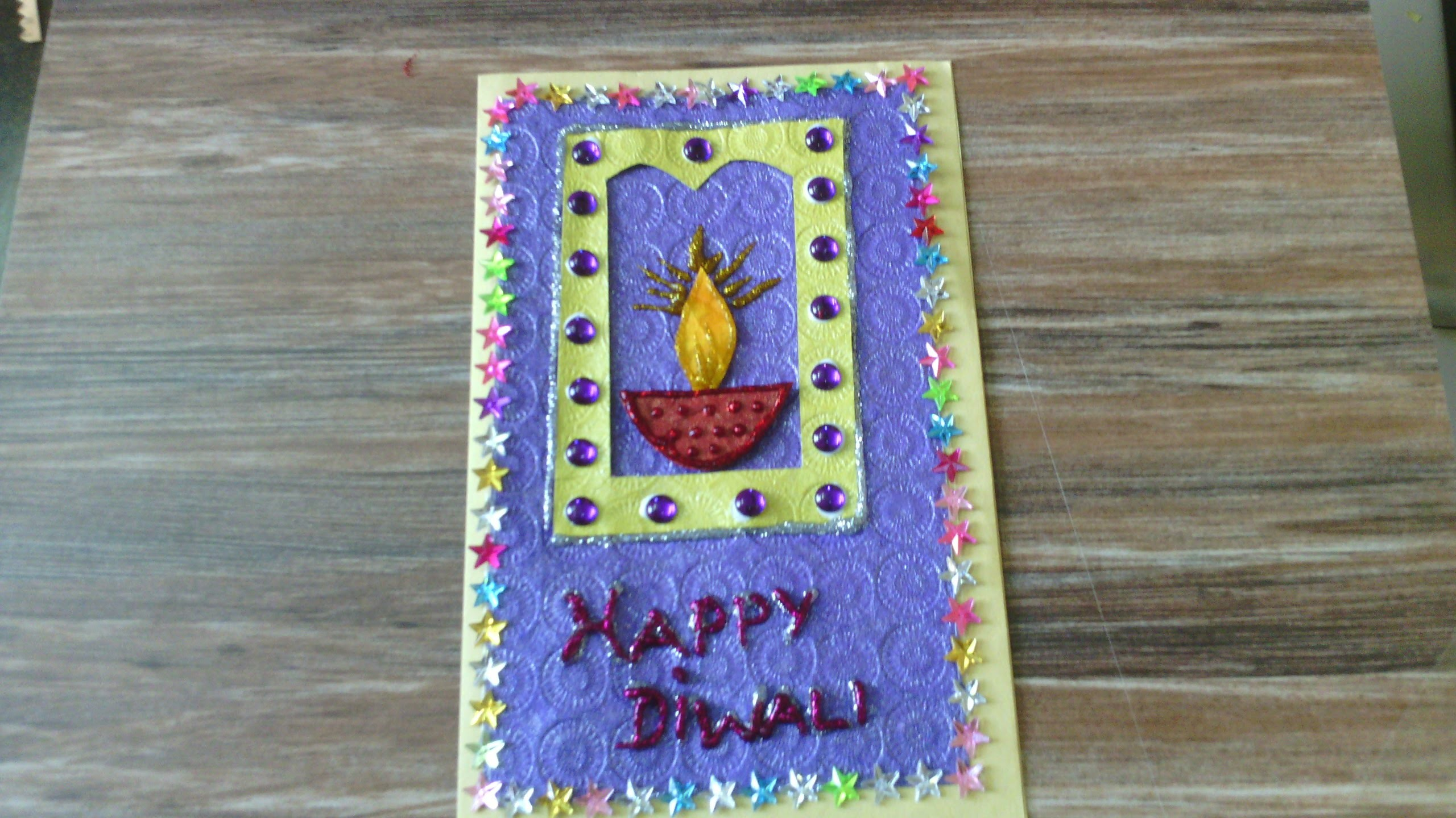 Diwali greeting card school project for kids m4hsunfo