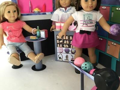 DIY American Girl Doll Bowling Alley