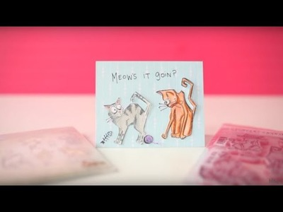 DIY Card Making with Tim Holtz Crazy Cats