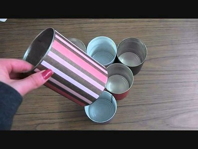 DIY Copic Storage Unit - Made from used tins!