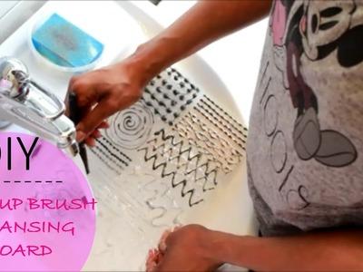 DIY | Makeup brush cleansing board