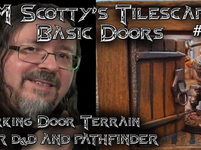 DM Scotty's TILESCAPES Game Terrain MINI OPENABLE DOORS for D&D and Pathfinder #006