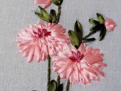 Embroidery Flower by Hand | Beautiful ribbon work |  HandiWorks #49