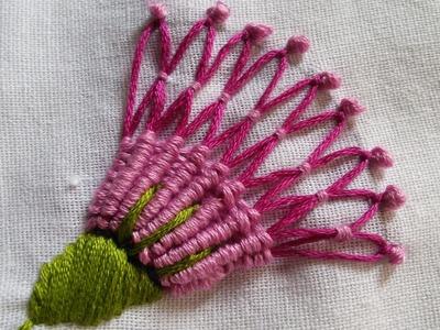 Embroidery Patterns | Spider Hand Stitch Basic Tutorial | HandiWorks#21