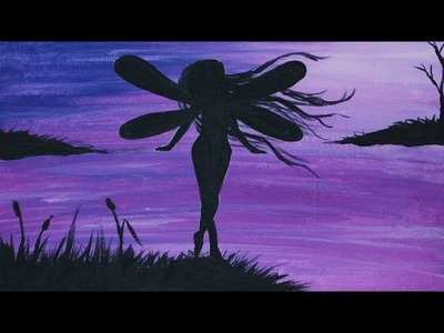 Fairy Silhouette : Acrylic Painting on Canvas (part 1 of 2)