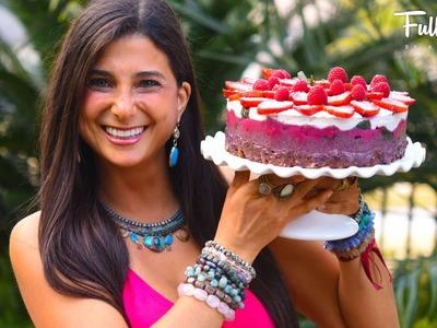 FullyRaw Cherry Berry Coconut Créme LOVE Cake!
