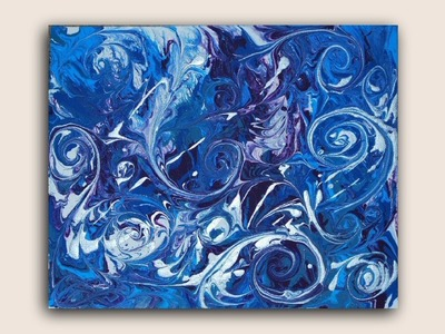 Go With the Flow : Fluid Acrylic Painting on Canvas