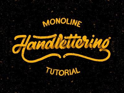 Hand Lettering Tutorial for Beginners | Monoline