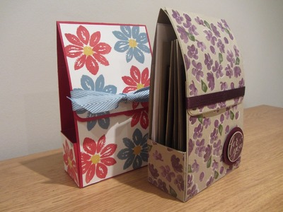 Hand Made Gift Box for Chunky Cards - Tutorial with Stampin' Up Painted Petals and Petal Potpourri