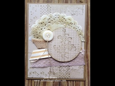 Handmade Vintage Look Card with Timeless Textures from Stampin' Up!
