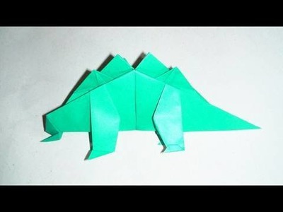 (HD) Baby Stegosaurus Origami (Fernando Gilgado Gomez)