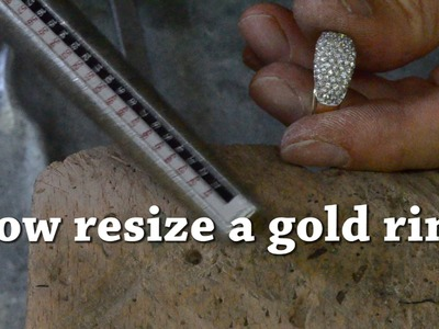 How resize a gold ring