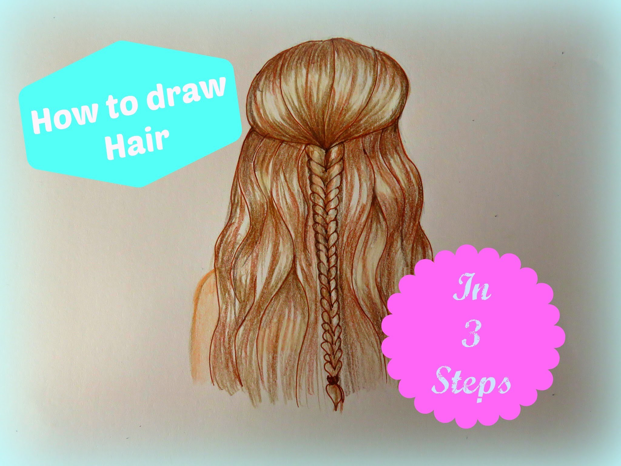How to draw hair (in 3 steps)  Drawicorn