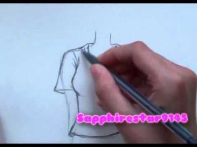 How to Draw Manga Clothing: T-Shirt, Pants,Skirt, Dress Part 1.2