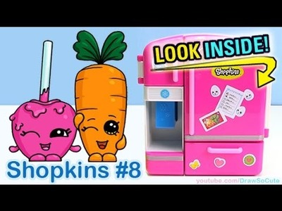 How to Draw Shopkins Candy Apple and Wild Carrot step by step Cute