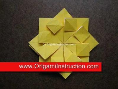 How to Fold Origami Modular Tea Bag Flower 1 - OrigamiInstruction.com