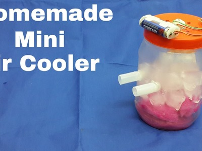 How to Make a Homemade Mini Air Cooler with Household Items(Very Cheap)
