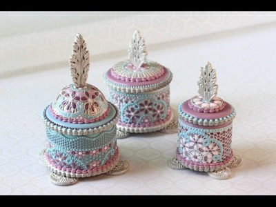 How to Make Enamel Filigree Cookie Boxes - A SugarVeil® Products Collaboration