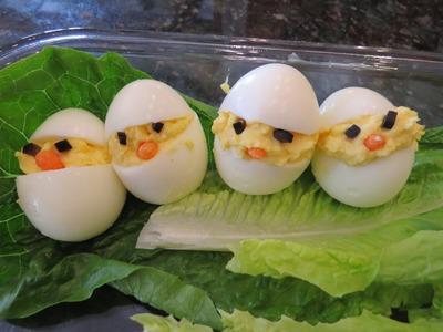 How to make little chick egg art