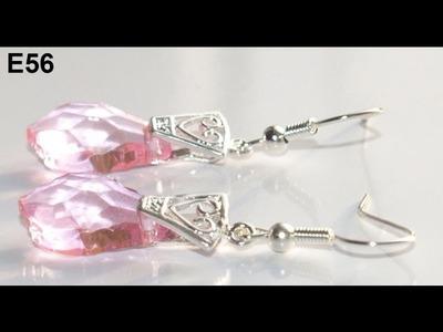 How to make swarovski styled crystal earrings